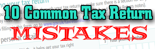 10 Common tax return mistakes