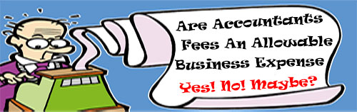 Are accountants fees deductible, an allowable expense?