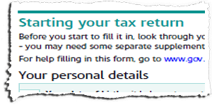 Tax Return Page TR1 Snippet