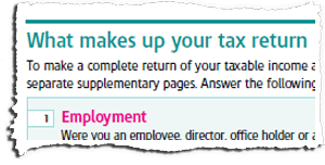 Tax Return Page TR2 Snippet