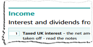 Tax Return Page TR3 Snippet