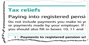 Tax Return Page TR4 Snippet