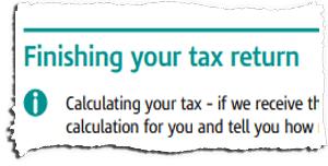 Tax Return Page TR6 Snippet