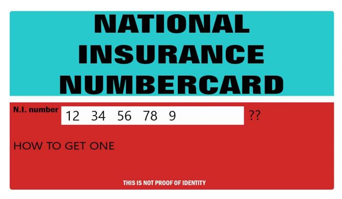 National Insurance number and how to apply for one.
